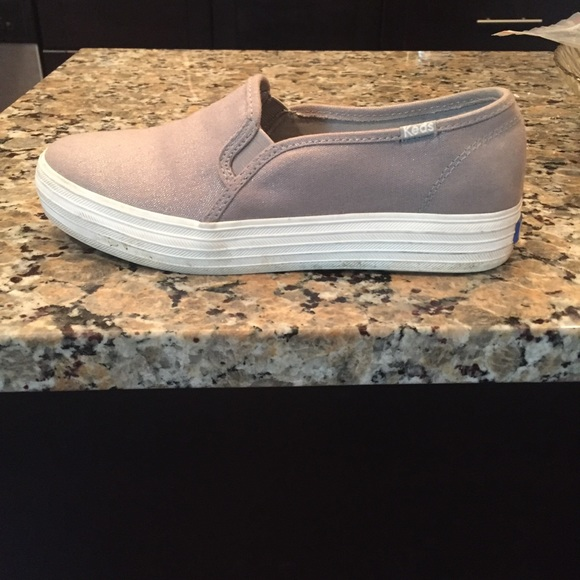 7ac0ecafc8 Keds Shoes - Keds triple stack slides with silver canvas